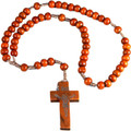 Brown Wood Cord Rosary