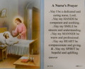 A Nurse's Prayer Laminated Holy Card
