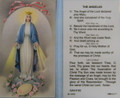 Angelus Laminated Holy Card