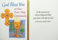 God Bless You On Your First Holy Communion Card