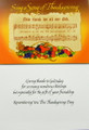Sing a Song of Thanksgiving Greeting Card