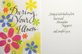 During Your Illness Get Well Card