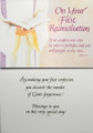 On Your First Reconciliation Greeting Card