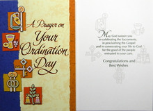 A prayer on your ordination day greeting card our daily bread