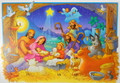 Nativity Scene Greeting Card with Envelope Advent Calendar