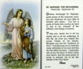 St Raphael the Archangel Laminated Holy Card