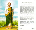 Prayer to St Jude Laminated Holy Card