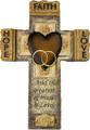 Faith Hope Love Resin Wall Cross