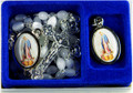 Mother of Pearl Rosary & Our Lady of Grace Medal