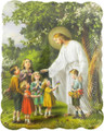 Jesus With Children Wood Wall Plaque