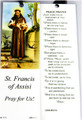 St Francis of Assisi Laminated Bookmark with Tassel