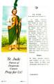 St Jude Laminated Bookmark with Tassel