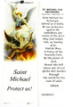 St Michael Laminated Bookmark with Tassel
