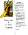 Footprints In The Sand Laminated Bookmark with Tassel