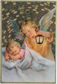 Angel watching over Infant Mosaic Wall Plaque