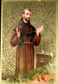 St Francis of Assisi Mosaic Wall Plaque