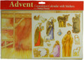Advent Countdown Calendar with Stickers