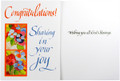 Congratulations Sharing In Your Joy Greeting Card