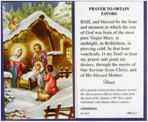 Christmas Novena Laminated Holy Card