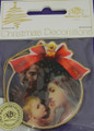 Holy Family Wood Plaque Christmas Ornament
