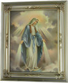 Our Lady of Grace Antique Silver Frame