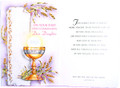 On Your First Holy Communion Dear Daughter Greeting Card
