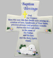 Baptism Blessings Marble Cross