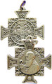 """St Benedict 1"""" Silver Cross Medal"""