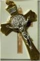 "St Benedict 3"" Gold-Tone Crucifix"