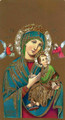 Our Lady of Perpetual Help Blank Paper Holy Card