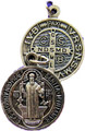 St Benedict Ox Silver Round Medal