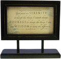 Serenity Prayer Framed on Stand **Discontinued