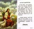 Act of Contrition Laminated Holy Card (059)