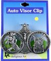 St Christopher & Guardian Angel Visor Clip