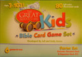 Great Adventure Kids Bible Card Game Set Front of Box