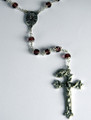 Vienna Collection Austrian Crystal 7mm Amethyst Double Capped Bead Rosary