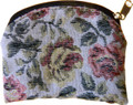 Brocade Rosary Pouch Red/Yellow Floral
