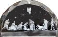 Etched Glass Nativity Scene