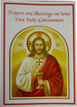 Prayers and Blessings On Your First Holy Communion Greeting Card