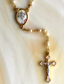 First Communion White Pearl Bead Rosary