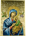 Our Lady of Perpetual Help Mosaic Wall Plaque