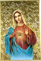 Immaculate Heart of Mary Mosaic Wall Plaque