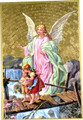 Guardian Angel Traditional image Mosaic Wall Plaque