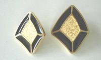 Black/Gold Diamond