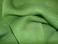 Polyester Chiffon-Iridescent  Lime/Royal