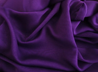 Polyester Chiffon-Iridescent Purple/Black