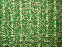 Island Green/Tan Tropical Print Lawn