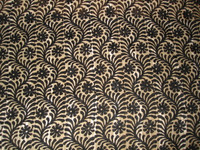 Black/Tan Tropical Print Lawn