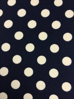 Navy/White Polka Dot Silk Charmeuse