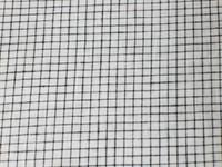 White/Black Windowpane Linen